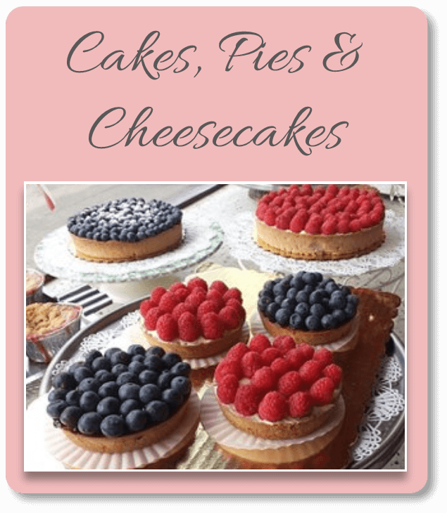 Click Here for Our Cakes, Pies and Cheesecake Selections